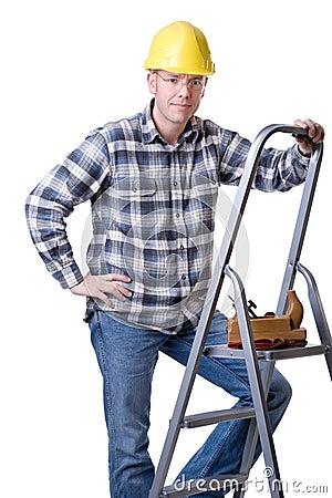 Carftsman on ladder