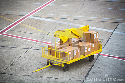 Cargo for an airplane