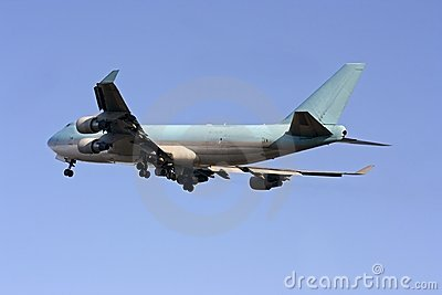 Cargo airplane just taking off