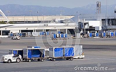 Cargo carts in airport