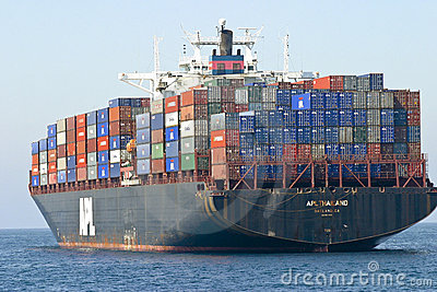 Cargo Container Ship Editorial Photography