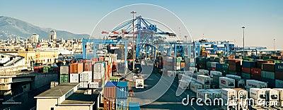 Cargo docks area Editorial Image