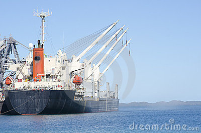 Cargo Freight Ship at Jetty