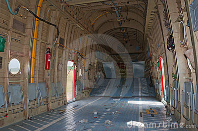 Cargo hold of Mi-26 helicopter