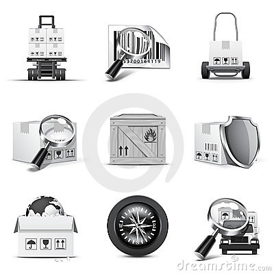 Cargo icons | B&W series