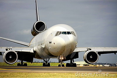 Cargo jet on runway