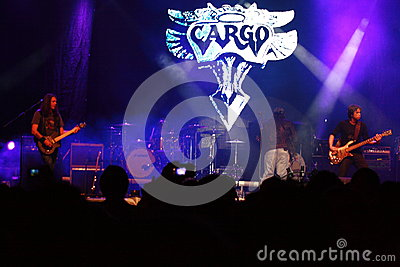 Cargo live concert at October fest in Oradea Romania Editorial Image