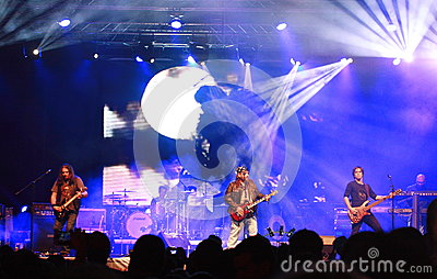 Cargo live concert at October fest in Oradea Romania Editorial Stock Photo
