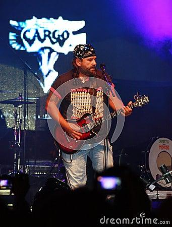Cargo live concert at October fest in Oradea Romania Editorial Photography