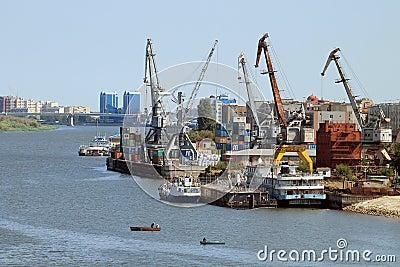 Cargo port Editorial Image