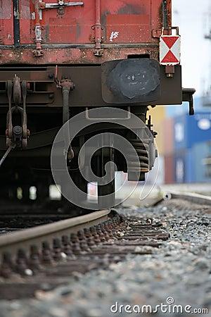 Free Cargo Railway Detail Royalty Free Stock Image - 10664276