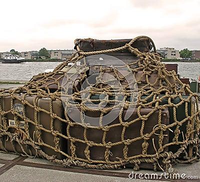 Cargo ready for shipment in Amsterdam harbor
