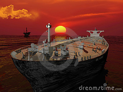 The Cargo Ship Stock Photography - Image: 12223742