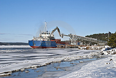 Cargo ship.