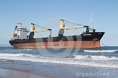 Cargo Ship Editorial Stock Photo