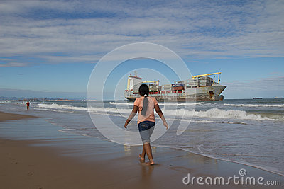 Cargo Ship Editorial Stock Image