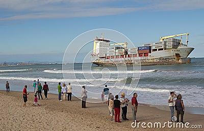 Cargo Ship Editorial Photo
