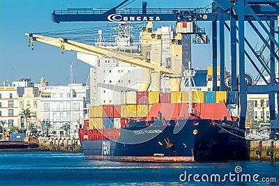 Cargo ship Fesco Vladimir Editorial Image