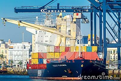 Cargo ship Fesco Vladimir Editorial Photo