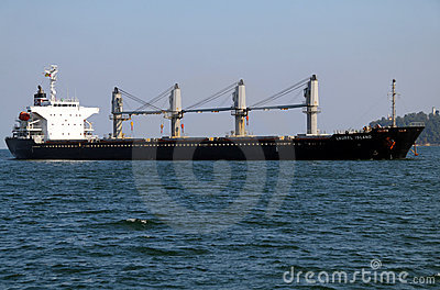 Cargo ship LAUREL ISLAND Editorial Photo