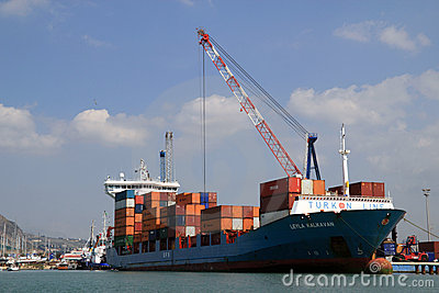 Cargo ship Leyla Kalkavan Editorial Photo