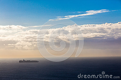 Ship Ocean Destination Sunrise Horizon