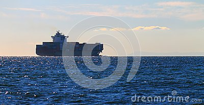 Cargo ship in Port Phillip Bay
