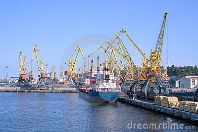 Cargo Ship at Ship-yards