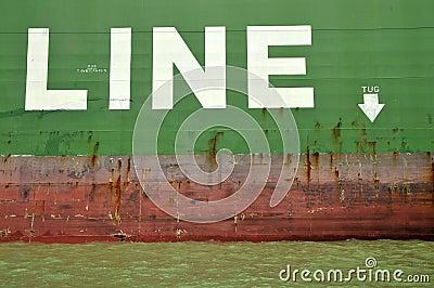 Cargo Ship Tug Line