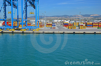 Cargo & shipping industry in Italy Editorial Stock Photo