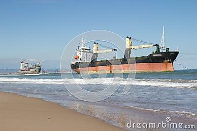 Cargo Ships Editorial Stock Photo