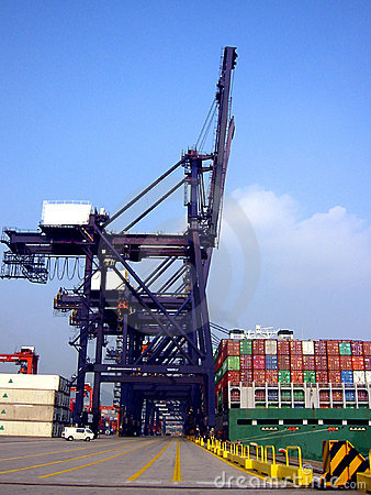 Free Cargo Terminal, Hong Kong Stock Image - 2558891