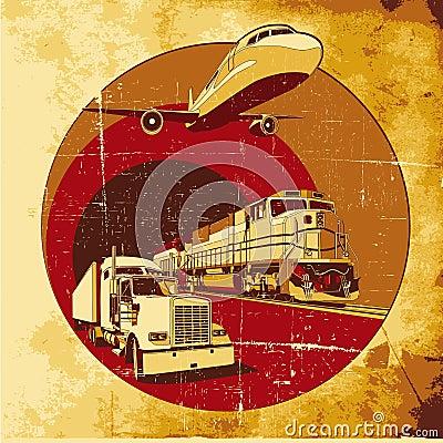 Cargo transportation grunge