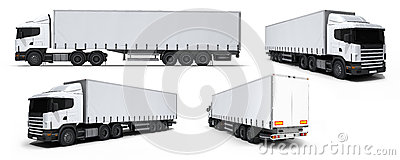 Cargo truck delivery vehicle collection