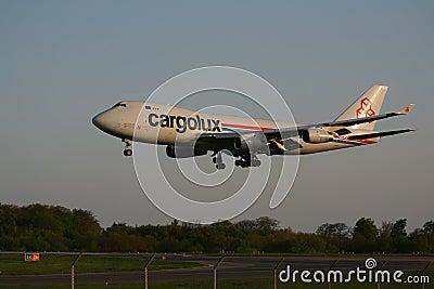 Cargolux 747 landing Editorial Photography