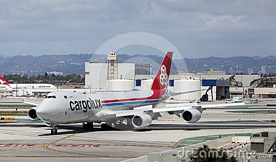Cargolux B747-8 Freighter at Los Angeles Airport Editorial Image