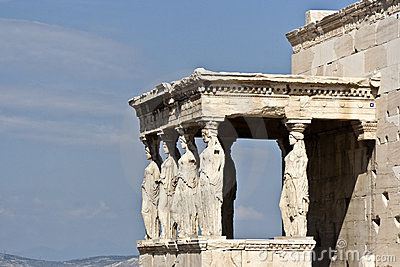 Cariatides of the Erechtheion Acropolis