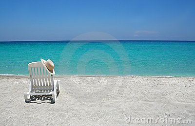 Caribbean Beach Chair Royalty Free Stock Image - Image: 4359776