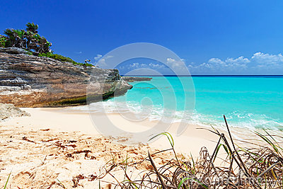 Caribbean beach in Playa del Carmen