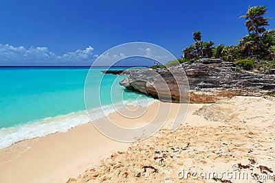 Caribbean beach in Playa del Carmen