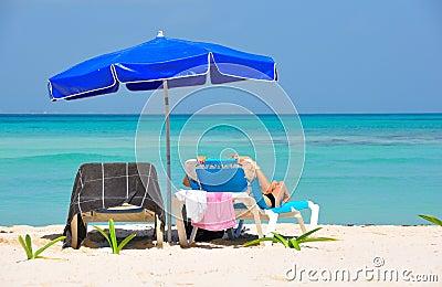 Caribbean Beach Tanning, Mexico