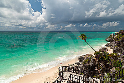 Caribbean beach of Tulum