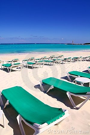 Caribbean beach turquoise sea green hammocks