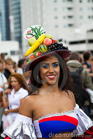 Caribbean Carnaval festival in Rotterdam Editorial Stock Image