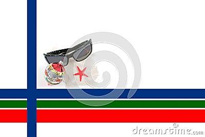 Caribbean Christmas Border with Sunglasses
