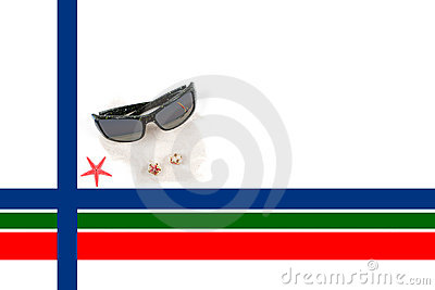 Caribbean Christmas Border with Sunglasses