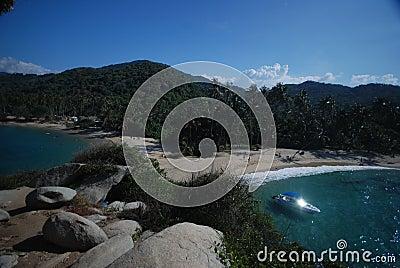 Caribbean Colombian beach