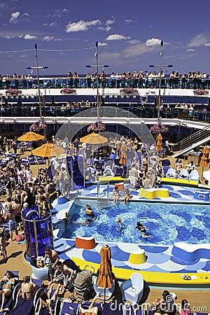 Caribbean Dream Cruise Ship Fun Poolside Editorial Image Image 15888090