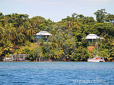 Caribbean houses in Panama