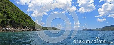 Caribbean island panoramic